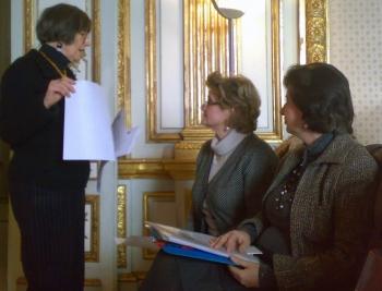 Da sinistra, Julia Bamford, Marina Bondi ed Elena Tognini Bonelli