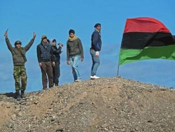 Ribelli libici, Brega (Fonte: Voice of America, Phil Ittner, 10 marzo 2011)