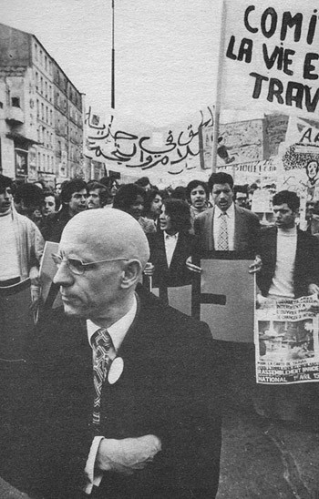 Source- Immigrants demonstrating, 1973 (Magnum). From the Michel Foucault.com site