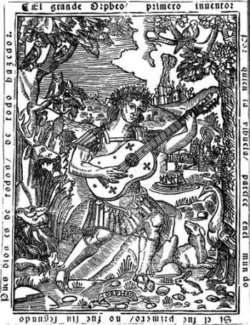 Frontespizio del celebre libro di intavolature per vihuela di Luis de Milán