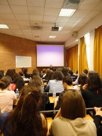 Paolo Longo e gli studenti