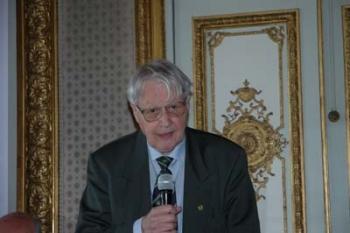 Il prof. Max Pfister durante l'inaugurazione del Centro LeItaLiE all'Orientale