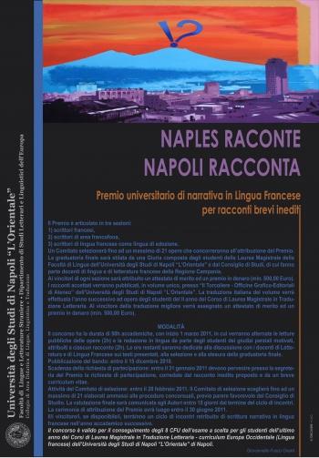 Locandina del Premio letterario Napoli racconta