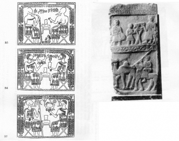 Tavole di Sawdā' - Stele funeraria