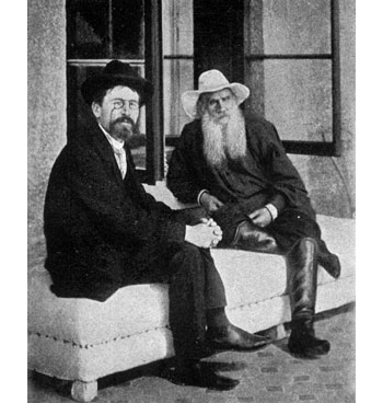 Anton Pavlovič Cechov e Lev Tolstoy