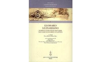 La copertina del testo Glossario Leonardiano