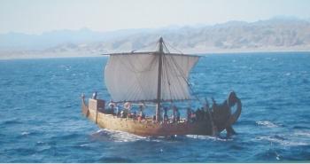 L'imbarcazione Min of the Desert ricostruita a grandezza naturale