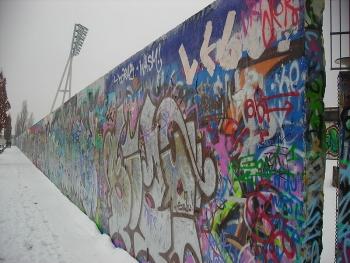 Uno scatto del muro