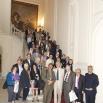 Foto di gruppo nell'ingresso di Palazzo Du Mesnil