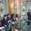 Apertura dei lavori: i cinque ambasciatori e Giuseppe Cataldi
