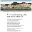 """Locandina Giornata di studio """"Toponomastica e linguistica: nella storia, nella teoria"""""""