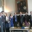 La delegazione cinese nella sede istituzionale del Rettore