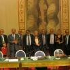 I destinatari della XXXIII edizione del Premio Dorso 2012 con la giuria in sala Zuccari a Palazzo Giustiniani