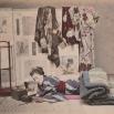 Ragazza che legge a letto (Kusakabe Kimbei)