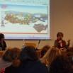 Da sin.: C. Maria Laudando e Laura De Michele durante la chiusura del Convegno
