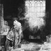 en geleerde in zijn werkkamer. 208 × 160 mm. Amsterdam, Rijksmuseum Amsterdam