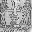 """""""lapidazióne s. f. [dal lat. lapidatio -onis]. Getto di pietre contro qualcuno, da parte di più persone, sia come sfogo d'ira co"""
